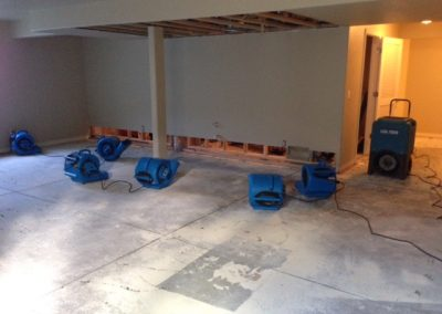 Drying Basement Floor From Burst Pipe